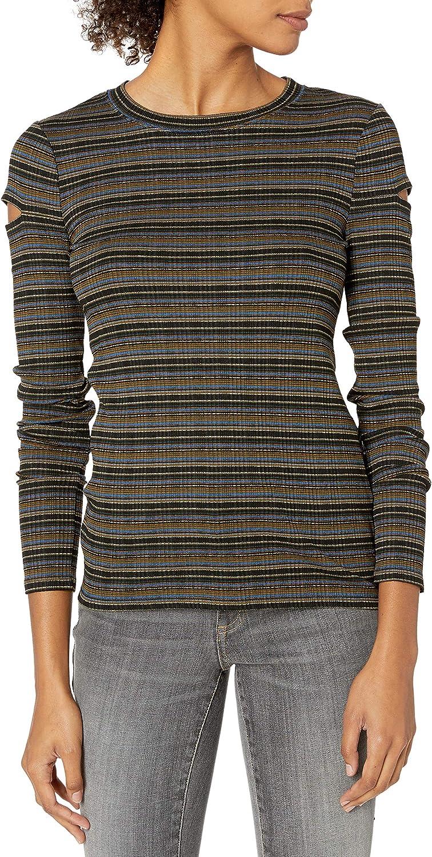 Bailey 44 Womens Bailey44 Daisy Stripe Cutout Top