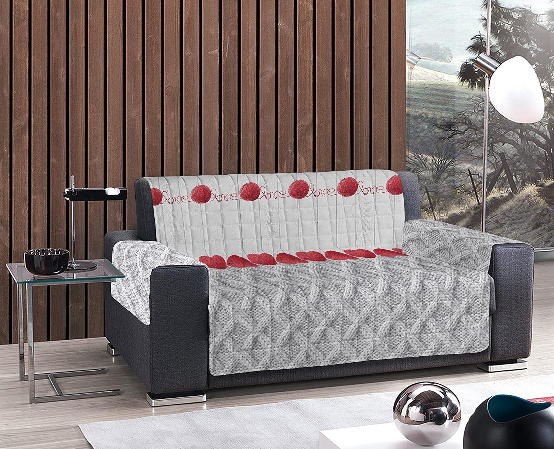 Funda sofá cubierta Sillón - acolchada ovillo de Love Gris ...