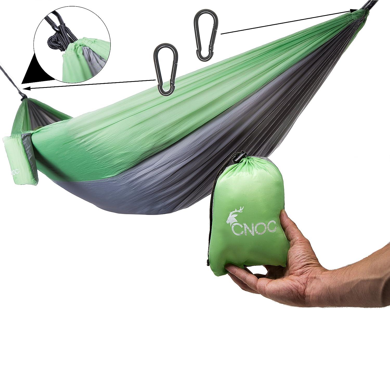 CNOC Amaca in seta paracadute 275×135 cm - 300 kg di capacità di carico | Hamaca | Amaca da interno | Hamaca da giardino | Hamaca portatile | Amaca viaggio | Amaca da viaggio | Amaca da trekking (1P)