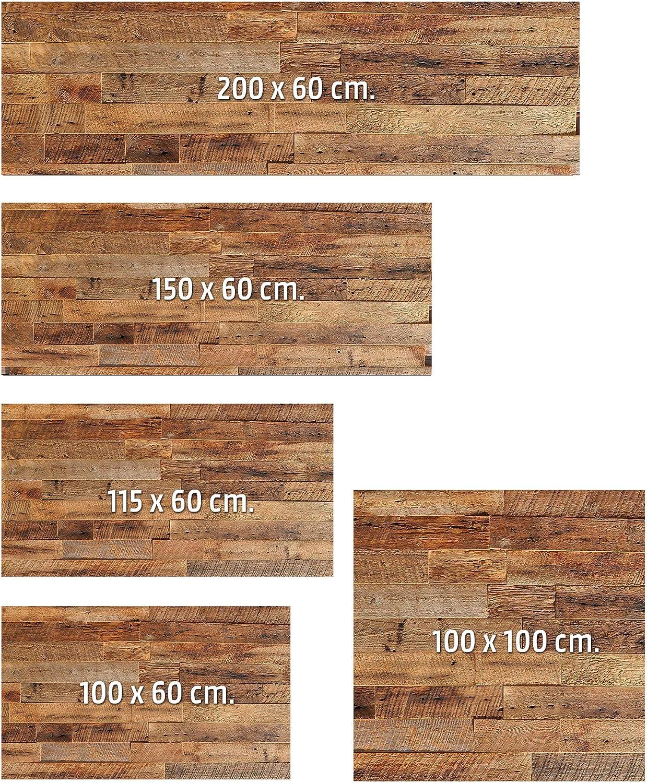 100 cm x 60 cm MEGADECOR Kopfteil Bett PVC Dekorative Wirtschaft Textur Holz Grau Tische Verschiedene Ma/ßnahmen