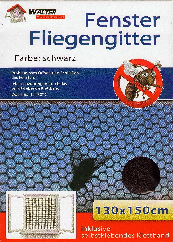 5er Pack Fenster Fliegengitter ink Klettband 130 x 150 cm Fliegennetz Insektenschutz M/ückengitter