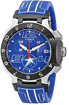 f52d54217ca Tissot Men s T0484172704700 Nicky Hayden T-Race Limited Edition Analog  Display Swiss Quartz Blue Watch