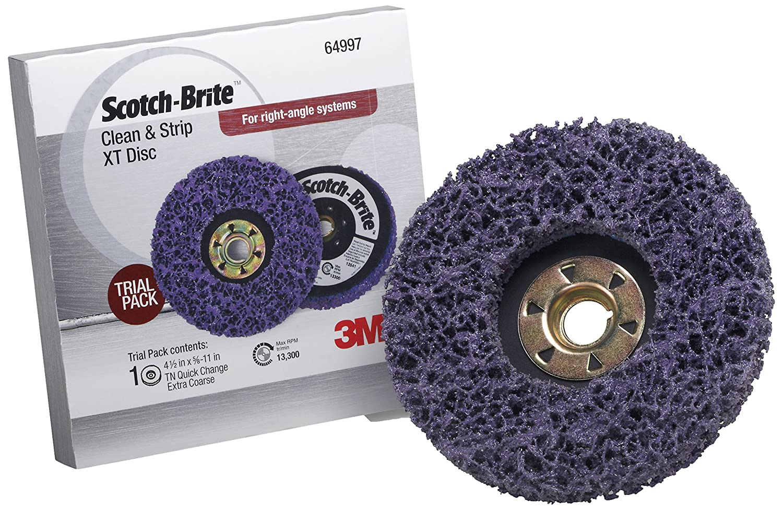 Scotch-Brite(TM) Clean and Strip XT Disc TN Quick Change Trial Pack, 4-1/2 in x 5/8 in-11 S XCS, 1 Trial Pack 3M CX-DN