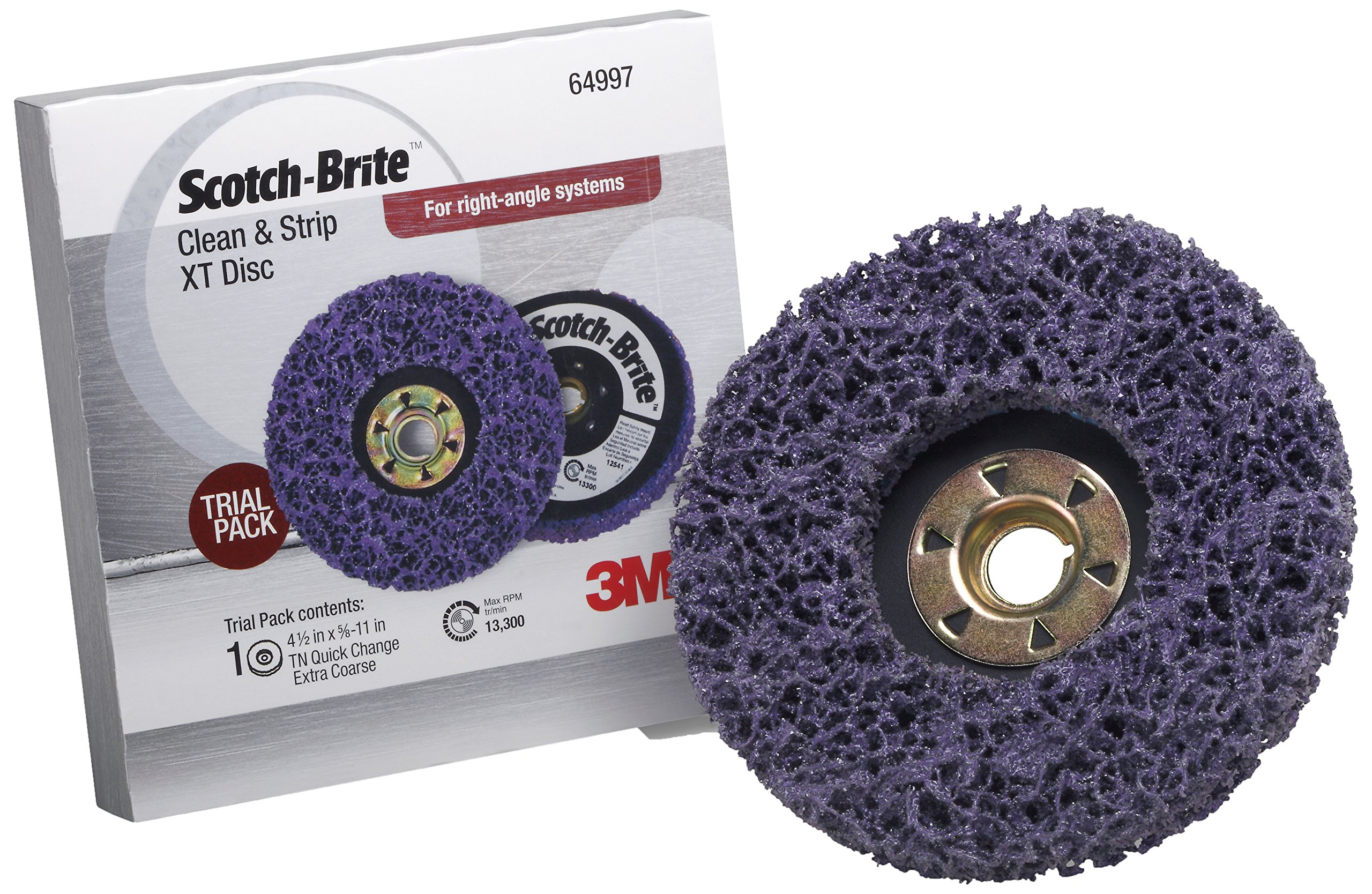 Scotch-Brite(TM) Clean and Strip XT Disc TN Quick Change Trial Pack, 4-1/2 in x 5/8 in-11 S XCS, 1 Trial Pack