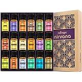 Natrogix Nirvana Essential Oils - Top 18 Essential Oil Set 100% Pure Therapeutic Grade 18/10ml Incl. (Tea Tree, Lavender…