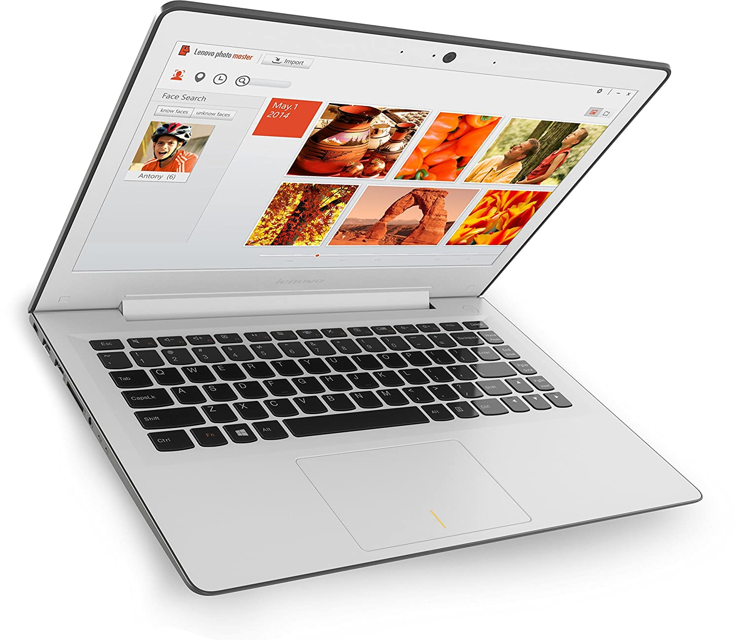 Lenovo U31-70 - Portátil (13,3 Zoll Full HD IPS Matt) Slim Ultrabook (Intel Core i3-5010U, 2,1GHz, 4GB RAM, Hybrid 500GB + 8 GB SSHD, Intel HD Grafik 5500, ...