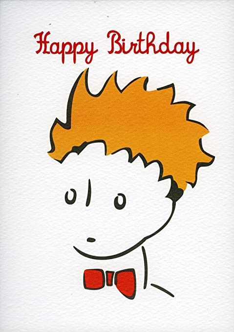 Little Prince Face Happy Birthday Greeting Card Amazon Co Uk