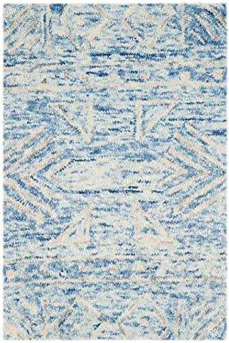Safavieh Chatham Collection CHT764B Handmade Blue and Ivory Premium Wool Area Rug 2 x 3