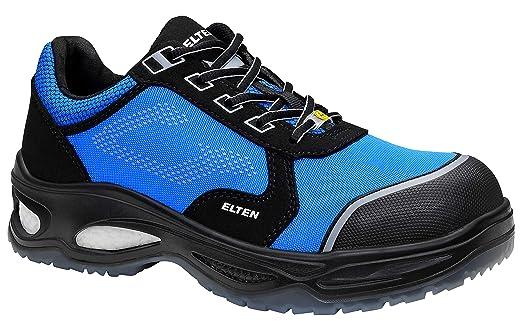 pick up 406e0 8a41d ELTEN Sicherheitsschuhe LENNOX Low ESD S2, Herren, sportlich, leicht,  schwarz/blau, Kunststoffkappe - Größe 40