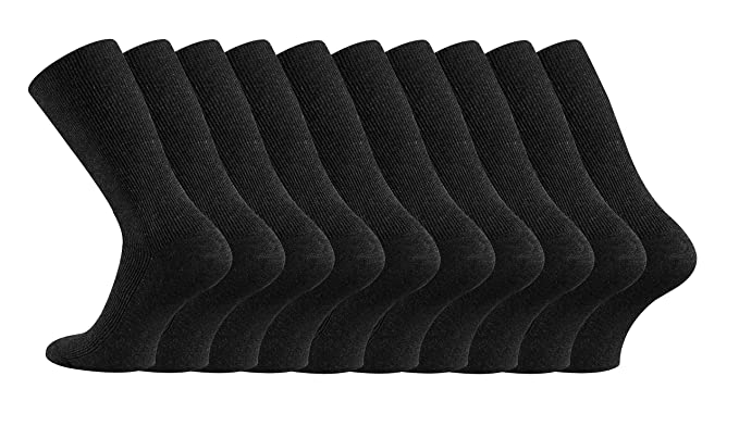 10 pares de calcetines FussFreunde, de TippTex24, sin goma, no resbalan, Negro