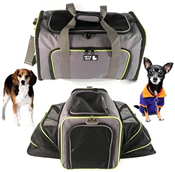 Merveilleux Pet Carrier For Dogs U0026 Cats   Airline Approved Premium Expandable Soft  Animal Carriers   Portable