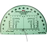 Bushcraft Unisex Accurate Ra Mils Map Reading Protractor, Clear, 15 cm x 9.5 cm
