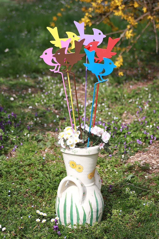 Juego de 3 tutores decorativos de metal porte-spirale antimosquitos ideal para decorar jardines, jarrones y balcones Le Lot est compuesto de 3 elementos: ...