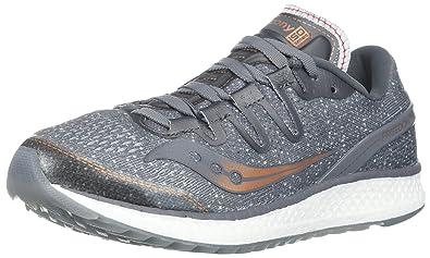 release date d455d f4d80 Saucony Women s Freedom ISO Running Shoe, Grey Denim, 9.5 Medium US