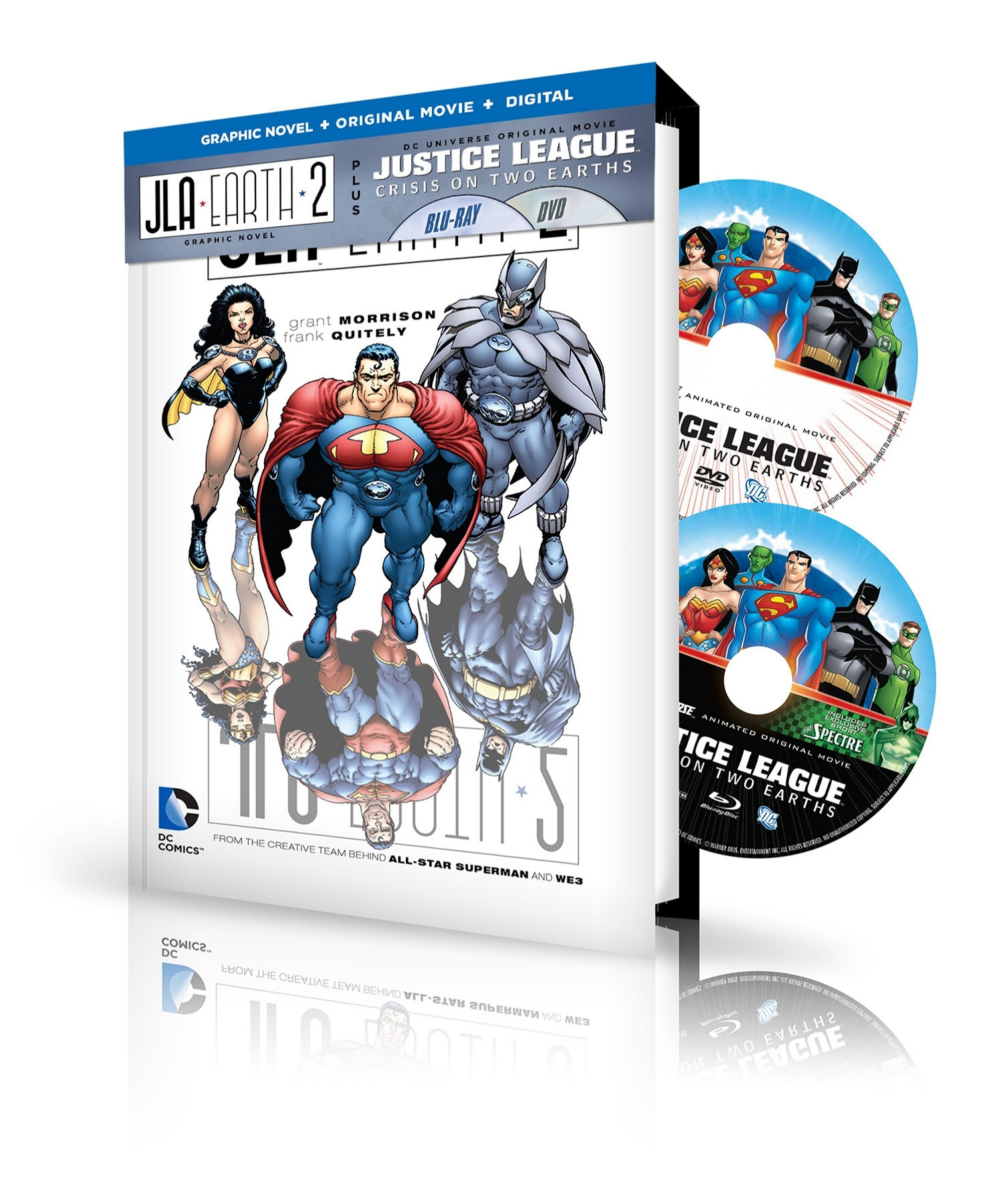 Justice League: Crisis on Two / JL Adventures (With DVD, Ultraviolet Digital Copy, 2 Pack, 2PC)