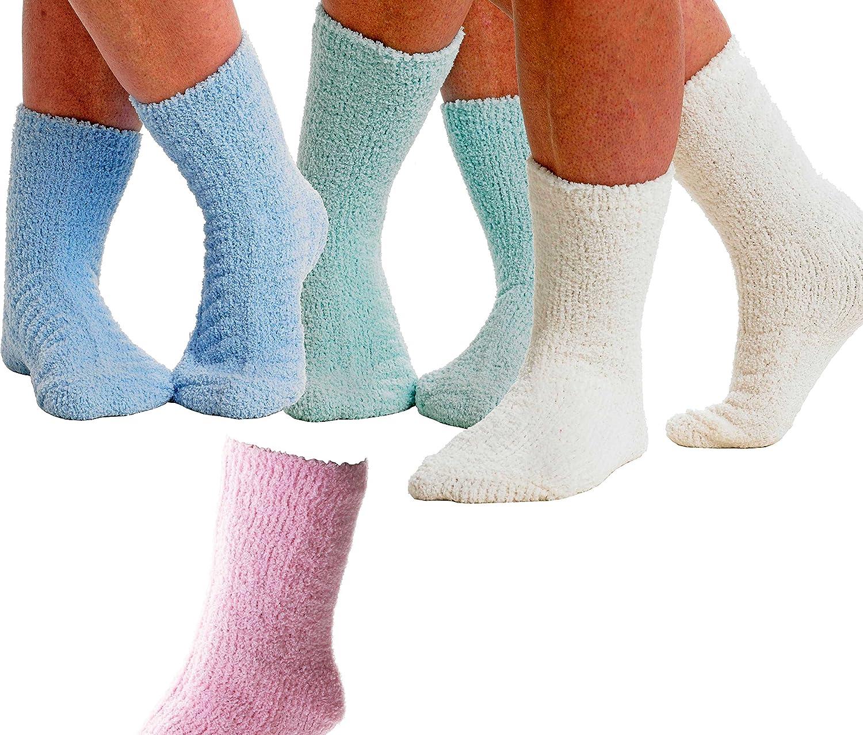Luxury Slenderella Ladies Soft Slipper Sock One Size UK 4-8