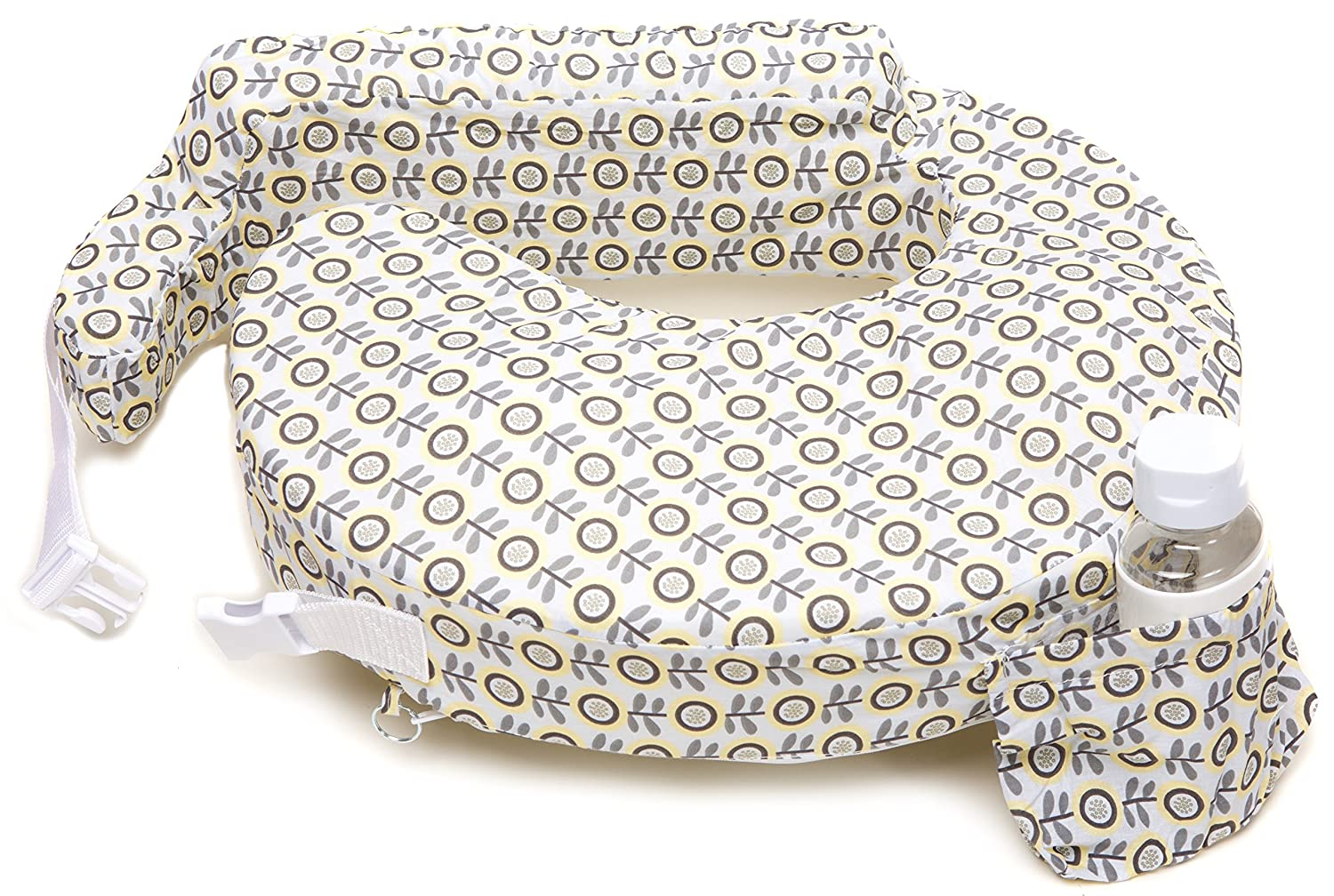 Grey Sunshine Poppy Yellow by My Brest Friend My Brest Friend Nursing Pillow
