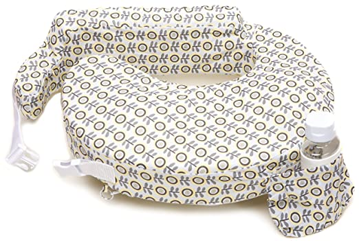 Amazon.com : My Brest Friend Nursing Pillow, Sunshine Poppy, Grey, Yellow :  Baby