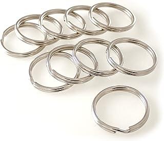 Van den Heuvel key rings, steel nickel plated, stable, single to large pack, silver
