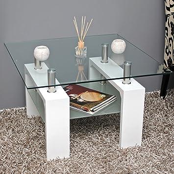 Tavolo d'appoggio Tavolino da salotto - acciaio innox - laccato ...
