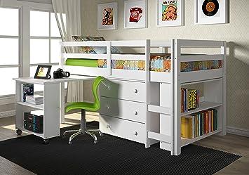 Amazon Com Donco Kids Low Study Loft Bed Kitchen Dining