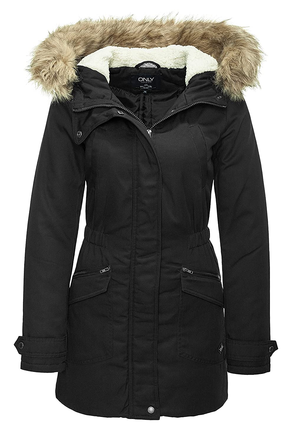 ONLY Damen Winterjacke Parka Kurzmantel