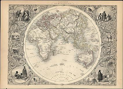 Amazon Com World Eastern Hemisphere Asia Mts Moon Africa Australia