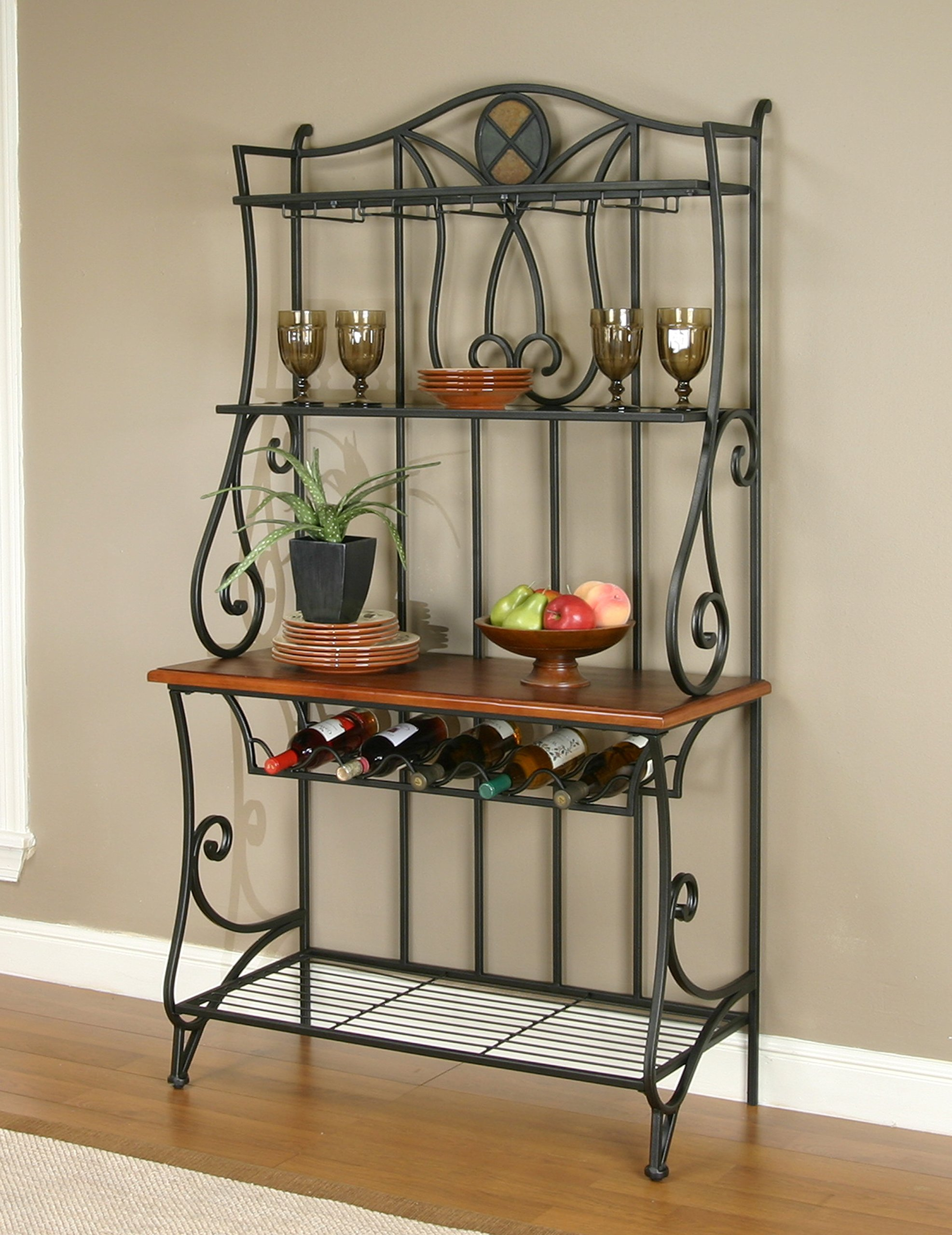 Sunset Trading CR-W2597-85 Vail Dining Bakers Rack, Wine, Espresso by Sunset Trading (Image #2)