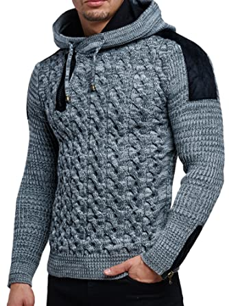 official photos 4ef84 2a0da Tazzio Pullover Herren Strickpullover Winter Strick Strickjacke Pulli  Langarm Shirt Pulli Look