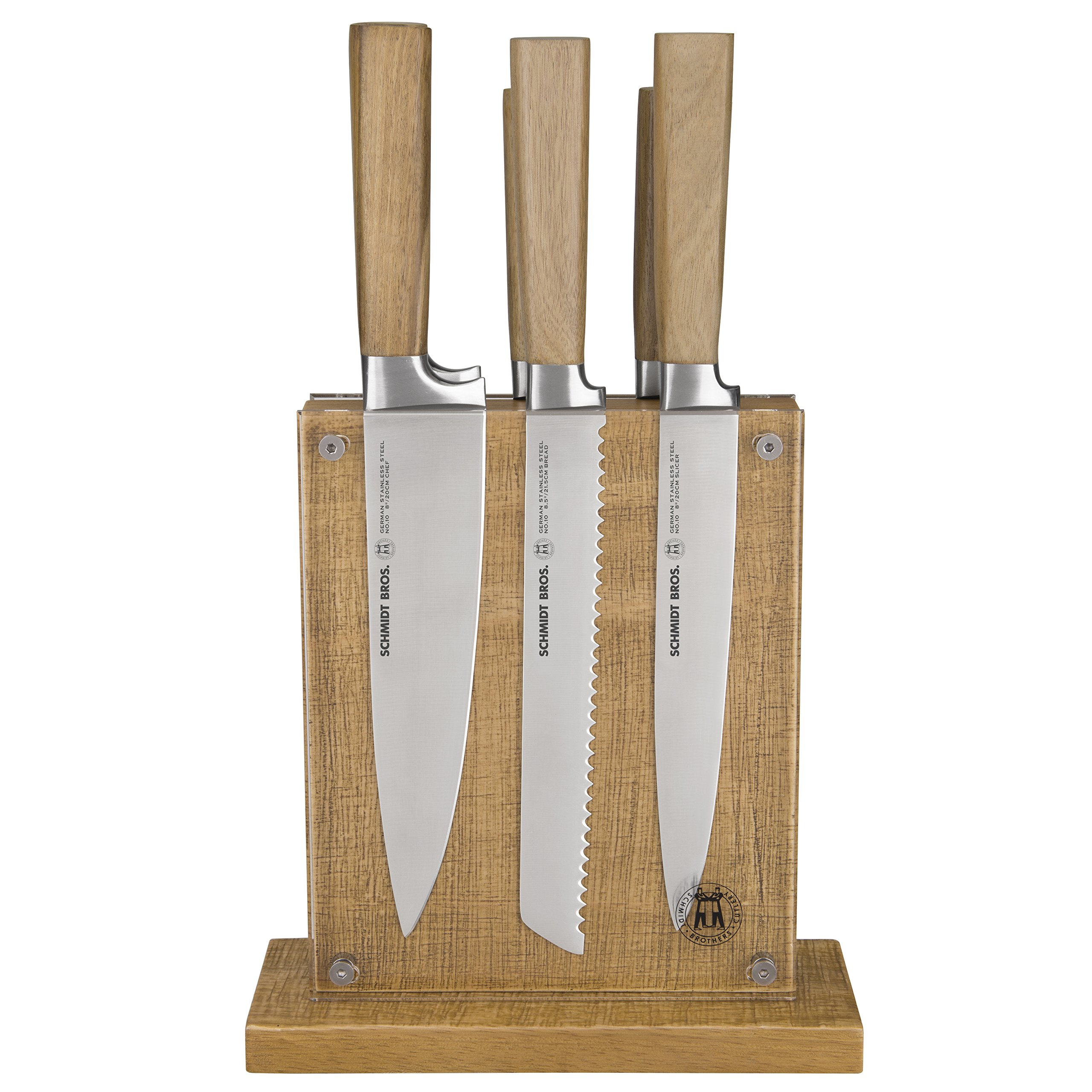 THE SCHMIDT BROTHERS 7 Piece Hudson Home Group No 10 Farmhouse Knife Set, Stainless Steel