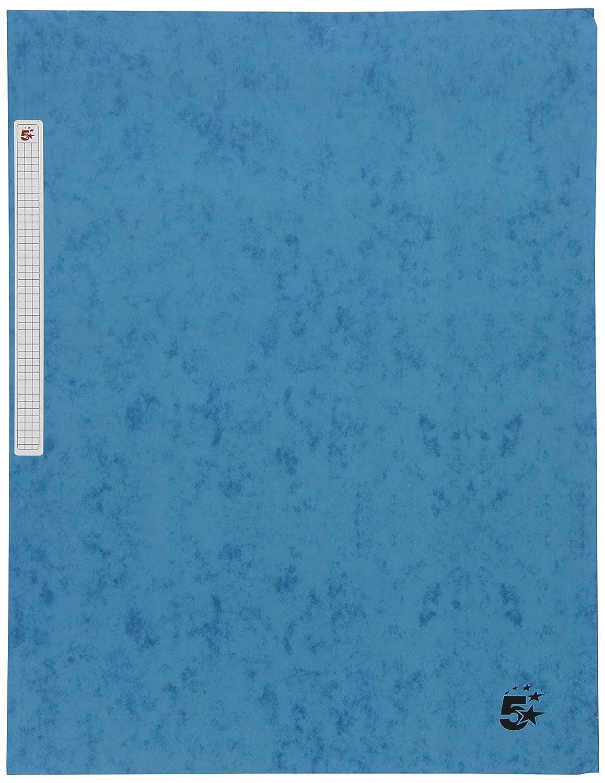 5 Star 400071444 - Carpeta de gomas con solapa, A4, color azul: Amazon.es: Oficina y papelería
