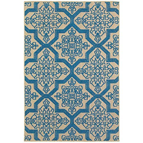 Amazon Com Style Haven Stylehaven Medallion Sand Blue Indoor