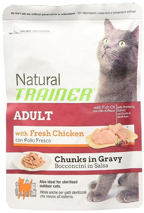 Natural Trainer Adult – Comida húmedo para Gatos, Pollo, ...