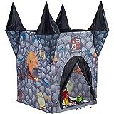 Relaxdays Tienda Infantil del Castillo del Terror, Casa Juguete para Niños, Poliéster, 132 x 110 x 110 cm, Negro