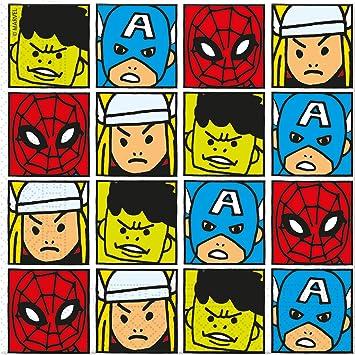20 Servilletas * Avengers Team Power * Cumpleaños para niños ...