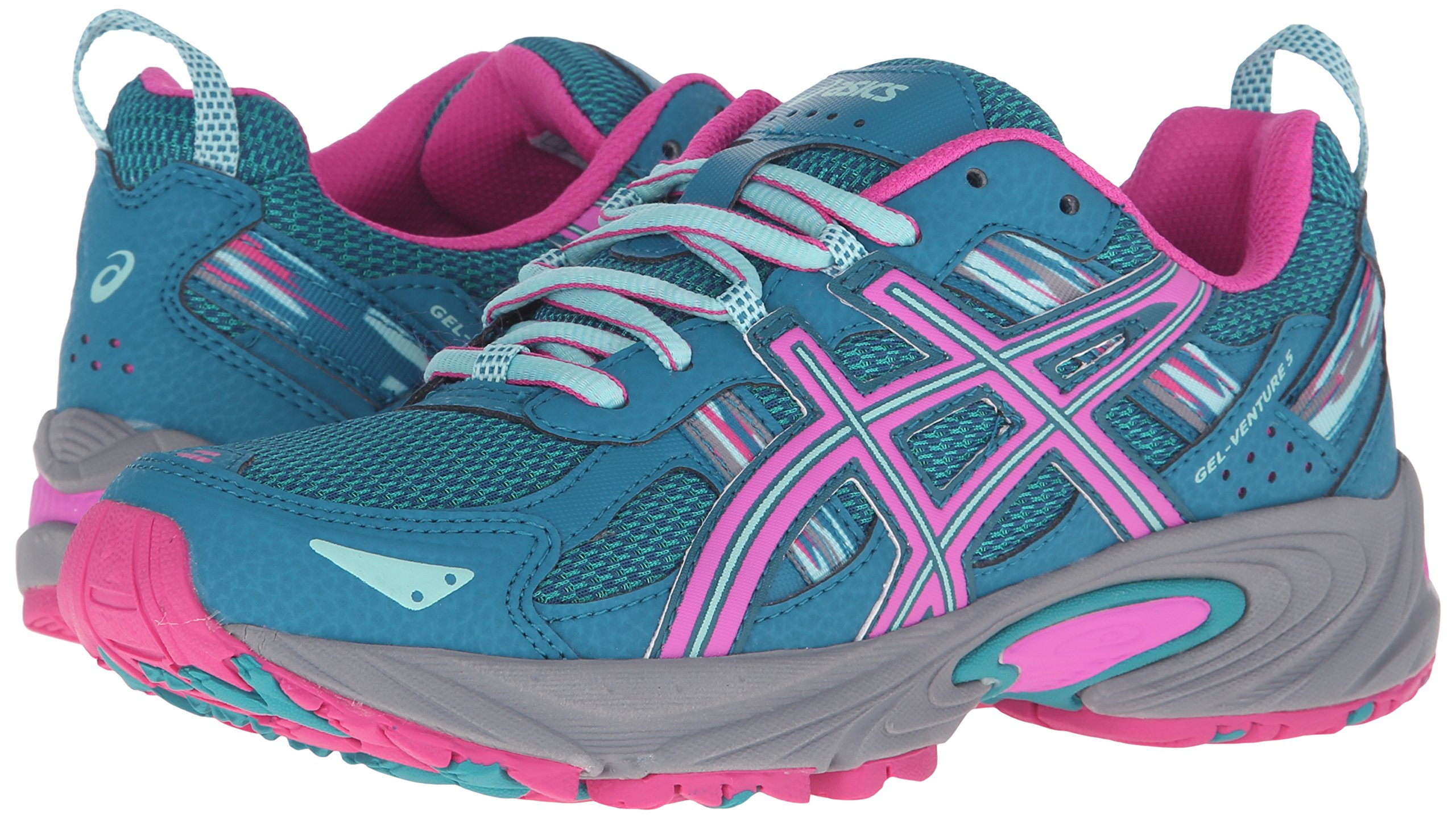 ASICS Women's Gel-Venture 5 Trail Runner Ocean Depth/Pink Glow/Aruba Blue 6 M US by ASICS (Image #6)