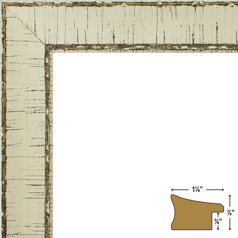 Amazon.com - Craig Frames Marea, Weathered Off-White Birch Bark ...