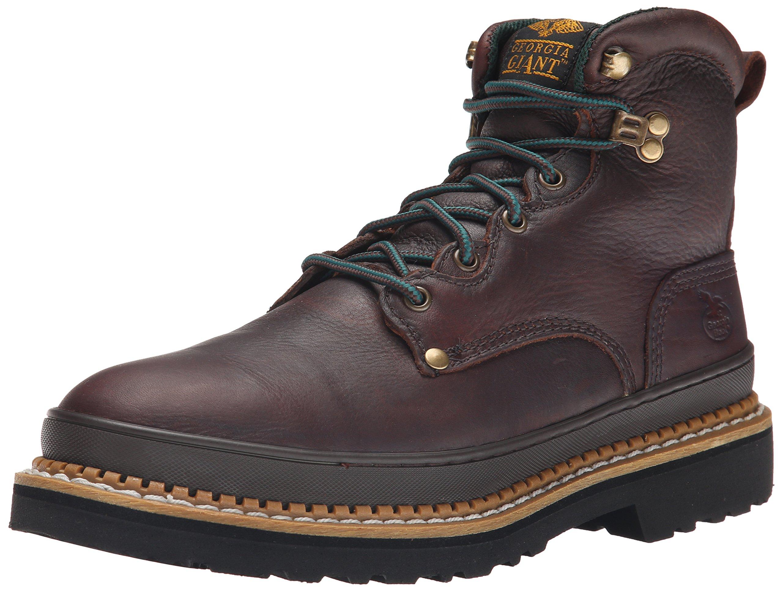 Georgia Boot Men's Giant G6374 Work Boot,Brown,10.5 W