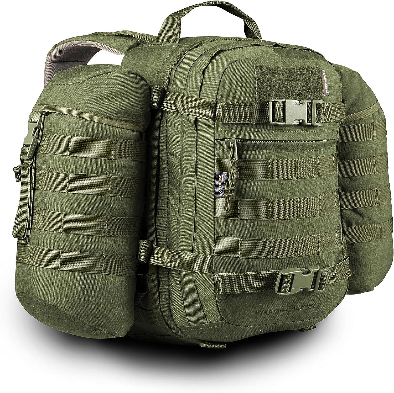 Zusätzliche Tasche 5L Wisport Rücksack Sparrow II geräumig Silverfox Zipperfox