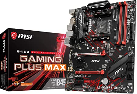 Amazon Com Msi Performance Gaming Amd Ryzen 2nd And 3rd Gen Am4 M 2 Usb 3 Ddr4 Dvi Hdmi Crossfire Atx Motherboard B450 Gaming Plus Max Computers Accessories