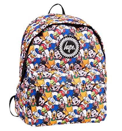 821fa04e0e0 Disney Characters All Over Print Backpack from Hype  Amazon.co.uk  Luggage