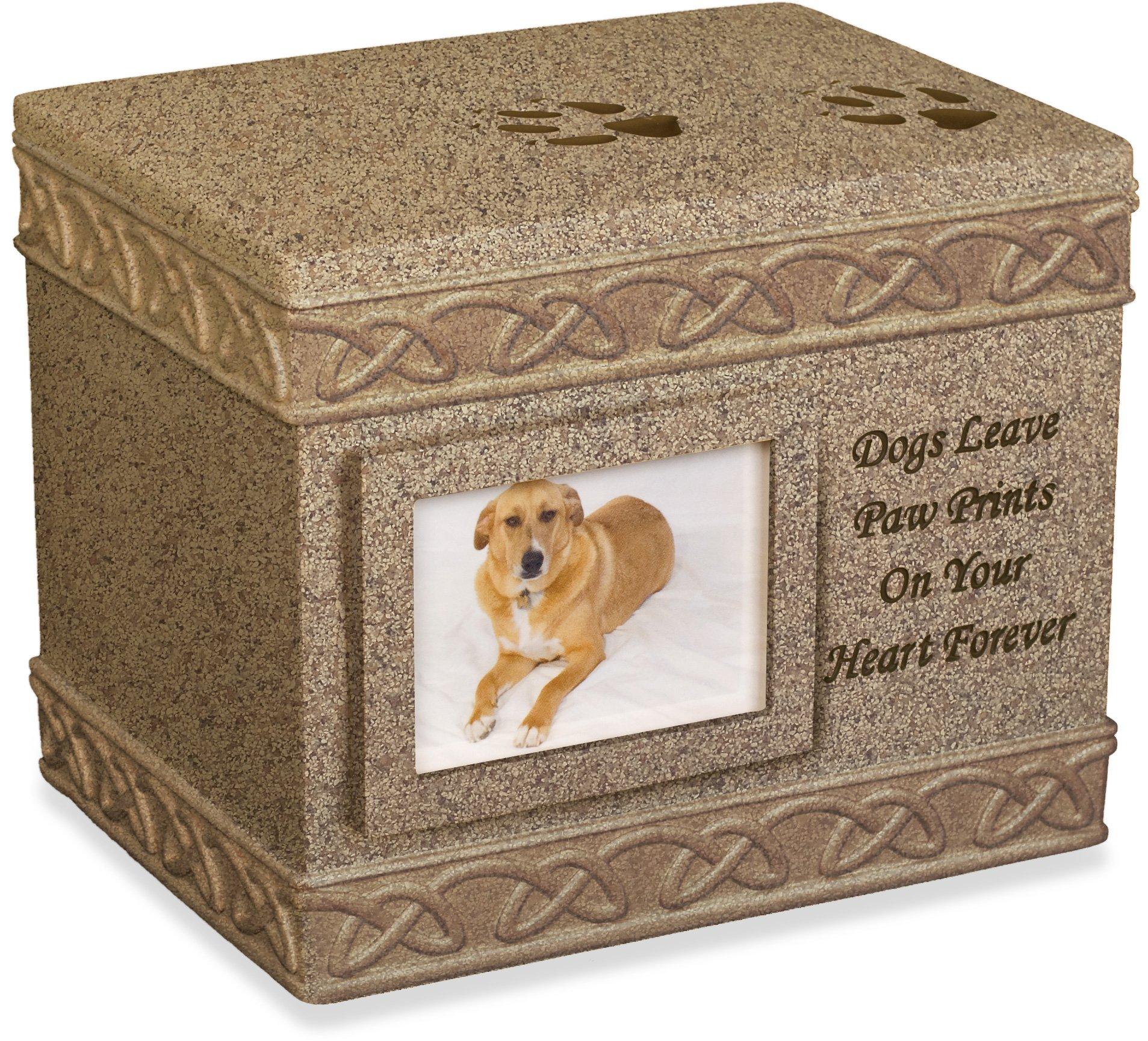 Angel Star 5-Inch Pet Urn for Dog, Dark Brown