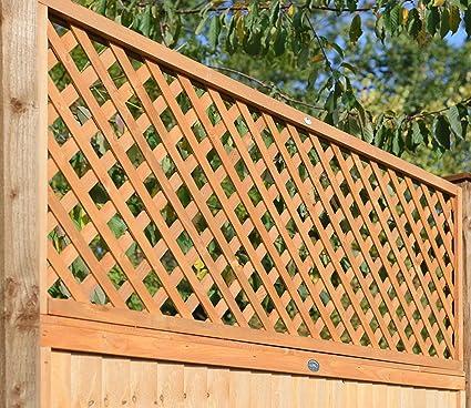 forestfox™ FSC Diamond Lattice Trellis Solid Heavy Duty Double Framed 1 8mx  60cm Garden Wall Deco