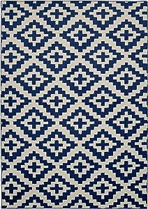 Garland Rug Southwest Area Rug, 5 x 7, Indigo/Ivory