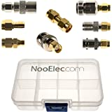 NooElec SMA Adapter Connectivity Kit - Set of 8 Adapters for NESDR SMArt (RTL-SDR) and Other SMA Software Defined Radios w/ Portable Carrying Case