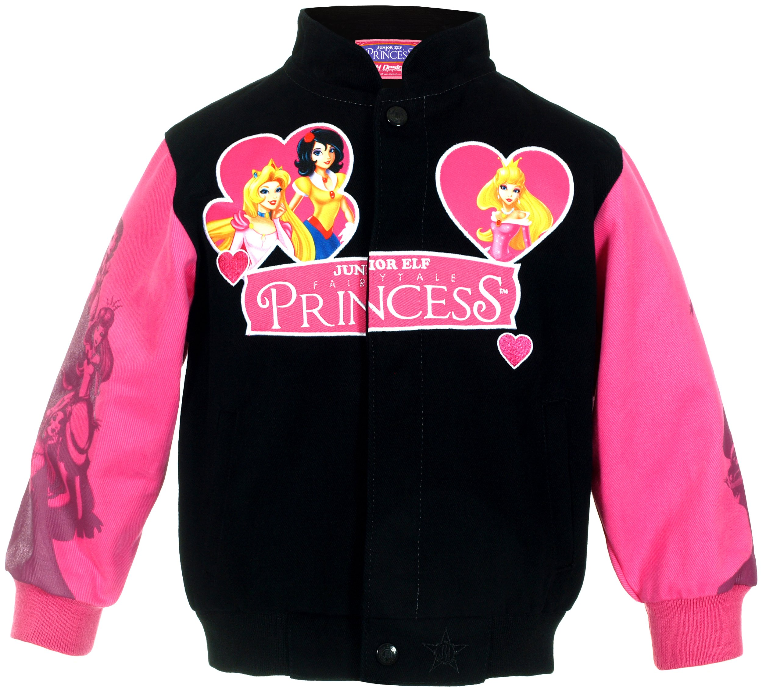 J.H. Design Girl's Fairytale Princesses Snap-Up Jacket (7)
