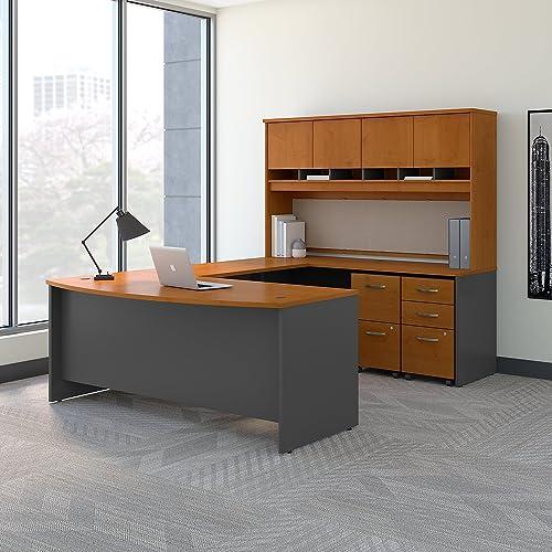 Bush Business Furniture 72W Bow Front U Shaped Desk
