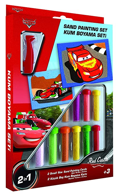 Disney Cars Sand Painting Set Lightning Mcqueen And Francesco