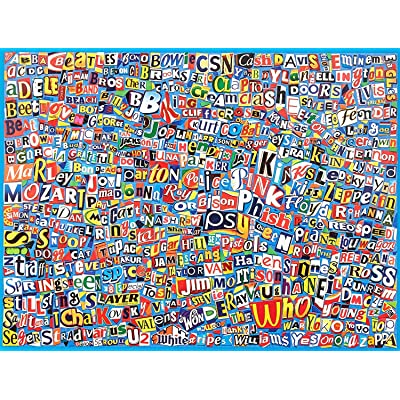 Ceaco Music Logo Collage Puzzle (550Piece): Toys & Games