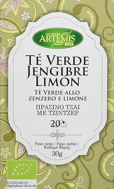 ArtemísBio Té Verde Jengibre Limón - 4 Paquetes de 20 unidades